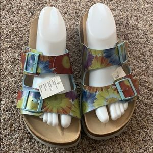 Betula by Birkenstock Floral Sandals 41 NeW